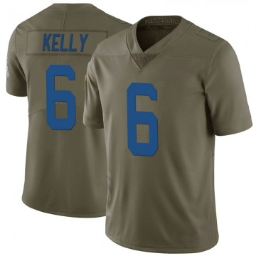 Men's Chad Kelly Indianapolis Colts Limited Green 2017 Salute to Service Jersey