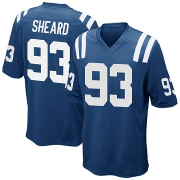 Men's Jabaal Sheard Indianapolis Colts Game Royal Blue Team Color Jersey