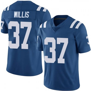 Men's Khari Willis Indianapolis Colts Limited Royal Team Color Vapor Untouchable Jersey
