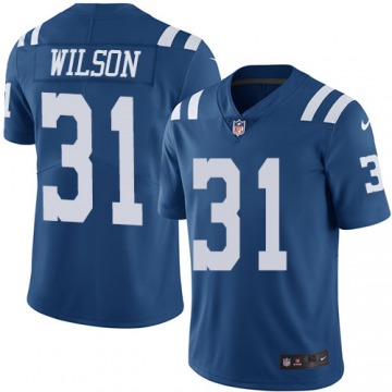 Men's Quincy Wilson Indianapolis Colts Limited Royal Blue Color Rush Jersey