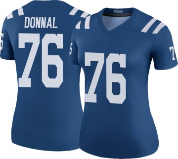 Women's Andrew Donnal Indianapolis Colts Legend Royal Color Rush Jersey
