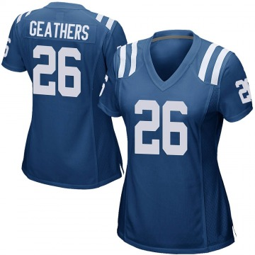 Women's Clayton Geathers Indianapolis Colts Game Royal Blue Team Color Jersey