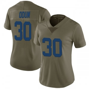 Women's George Odum Indianapolis Colts Limited Green 2017 Salute to Service Jersey