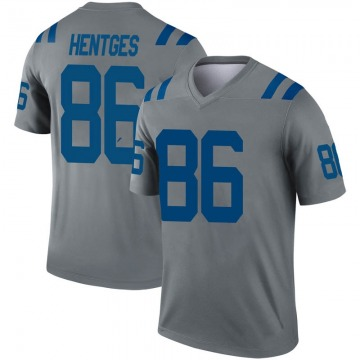 Youth Hale Hentges Indianapolis Colts Legend Gray Inverted Jersey