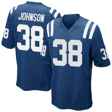 Youth Isaiah Johnson Indianapolis Colts Game Royal Blue Team Color Jersey