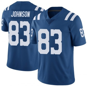 Youth Marcus Johnson Indianapolis Colts Limited Royal Color Rush Vapor Untouchable Jersey