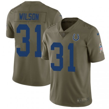 Youth Quincy Wilson Indianapolis Colts Limited Olive 2017 Salute to Service Jersey
